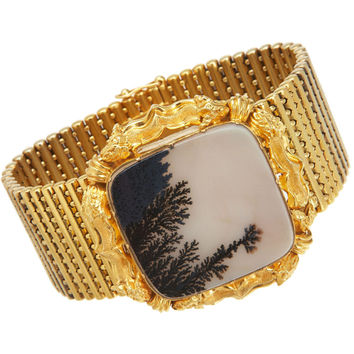 Olivia Collings Antique Jewelry Gold Trefoil Bracelet | Barneys New York