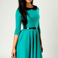 Jen Peter Pan Collar Dress at boohoo.com