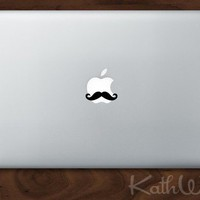 Laptop Mustache  Set of 6 decals  FREE SHIP by kathwren on Etsy