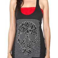 Graphic Skull Girls Tunic Tank Top Plus Size