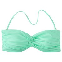 Mossimo Women&#x27;s Mix and Match Twist Bandeau Swim Top - Isle Green