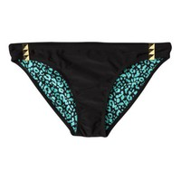 Xhilaration Juniors Black Hipster Swim with Charm Detail