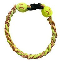 Titanium Ionic Braided Wristband - Softball