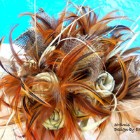 Sassy Feather Rustic Wedding Bouquet