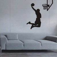 Large--Easy instant decoration wall sticker wall mural Sport Basketball-Basketball shoot