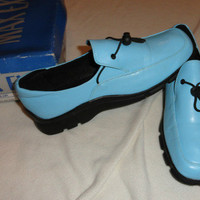***!!!*** EUC MENS MAX EX SIZE 11 SKY BLUE LOAFER SHOES AWESOME L@@k!!!
