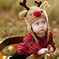 NEW YEAR SALE  save 10 Reindeer Hat  Baby by JojosBootique on Etsy