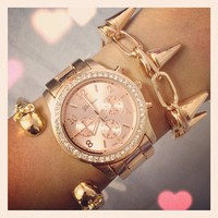 Rose Gold Boyfriend Watch from Her Vanity Affair