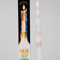 Color-Drip Candle - Set Of 2