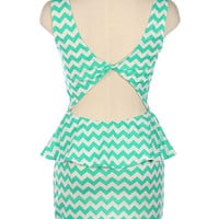 Pretty Mint Julep Peplum