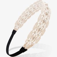 Beaded Crochet Headwrap | FOREVER 21 - 1024226741