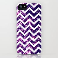 Purple Blur Sparkle Chevron iPhone Case by Rex Lambo | Society6