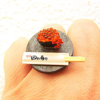 Kawaii Sushi Ring Tobiko Miniature Food by SouZouCreations