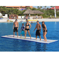 The Inflatable Walk On Water Mat - Hammacher Schlemmer
