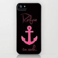 Refuse to Sink Pink Magenta Anchor iPhone Case by Rex Lambo | Society6