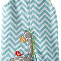 Mud Pie Unisex-Baby Newborn Safari Giraffe Shortall Set