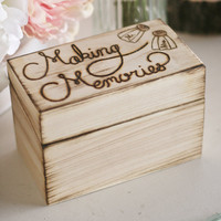 Rustic Chic Weddings By Morgann Hill Original Recipe Box Guest Book Including Recipe Card Inserts For Invitations Shabby Vintage Inspired