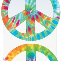 Paper House MCAR-1009E 3-Pack Decorative Car Magnet, Peace Sign - Tie Dye