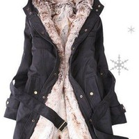 Brand New Faux Fur Winter Warm Hood Long Jacket Coat 888 from Fashion4you
