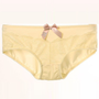 Yellow Mid Waist Panty,Cheap in Wendybox.com
