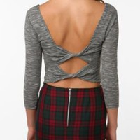 Sparkle & Fade Bow-Back Crop Top