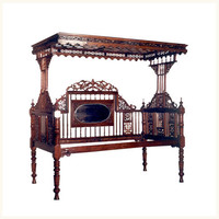 Cuttack Teak Opium Bed,Ethnic ,Indian ,Colonial ,Burma ,Teak ,Opium ,Bed ,Bedroom ,Antique