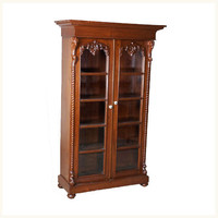 East India Company Antique Bookcase,British ,Colonial ,Burma ,Teak ,Bookcase ,Antique