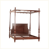 Faridabad Four Poster Bed,Colonial ,Burma ,Teak ,Bedroom ,Bed ,Reproduction ,Four ,Poster