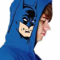 Blue Batman Logo Hoodie For Men