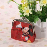 Comfortable Small Size PU Mickey Mouse Pattern Change Purse for Female - Red China Wholesale - Everbuying.com