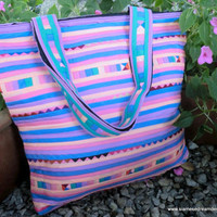 Lisu Pastel AppliqueTote Bag