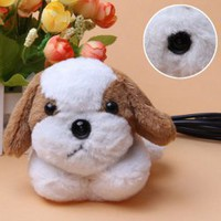 New Designed Soft Plush Dog Doll USB Digital Water-resistant PC Camera Webcam (White with Brown) China Wholesale - Everbuying.com