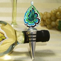 Murano Art Deco Collection Tear Drop Design Wine Stopper C3015 Quantity of 1