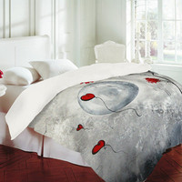 Madart Inc. Far Side of the Moon Duvet Cover