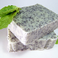 Peppermint Soap Bar 5 oz Exfoliating 100 Natural by BlueOrchidBody