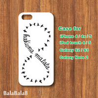 Hakuna Matata - iPhone  4 case, iphone 5 Case,iPod  touch 4 case , iPod 5 touch case ,  in durable plastic or rubber silicone case