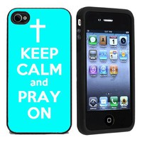 Rubber Keep Calm and Pray On Case for Verizon/AT