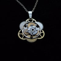 Clockwork Pendant Trigonometry Elegant by amechanicalmind on Etsy