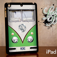iPad Mini Hard Case - Green VW Bus Retro Vintage - Tablet Cover IPM