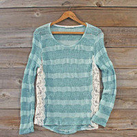 January Mint Lace Top, Sweet Cozy Lace Tops