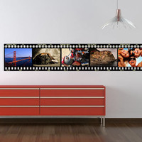 Cinema Film with custom photos - decal for housewares