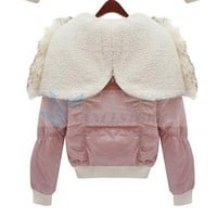 Fashion Korean Style Cotton-padded Clothes Pink-QM-C10112208-2 from VanclStore-Women Clothing