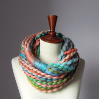 Multi-Colored beautiful loop SCARF by Silvia66 on Etsy