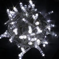 100 LED Fairy Light String Christmas Holiday Lights for Room Garden Home Decoration (White)