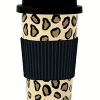 Amazon.com: C.R. Gibson Lolita Porcelain To Go Cup, Leopard: Kitchen &amp; Dining