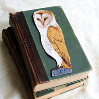Bookmark ArtBarn OwlHand Painted LeatherGifts by RomantiquePunk
