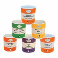 Set of Six Penguin Classic Book Mugs (Set 1) - Wedding Gift from the gifted penguin UK