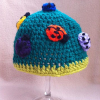 It&#x27;s a Bugs Life  Light and dark green hat by HookinItbyBellaBeanz