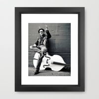 Rebel on the bass Framed Art Print by Vorona Photography | Society6