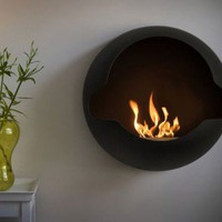 Cupola – Spherical Wall-Mounted Fireplace Design - Architecture Design, Home Design, Interior Design, Decorating Ideas on Best House Design